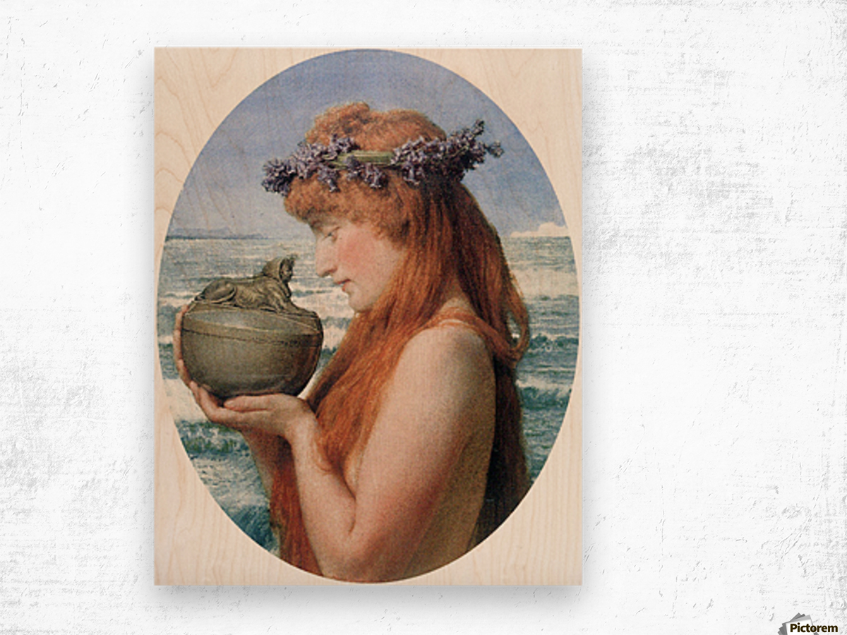 Pandora by Alma-Tadema Wood print