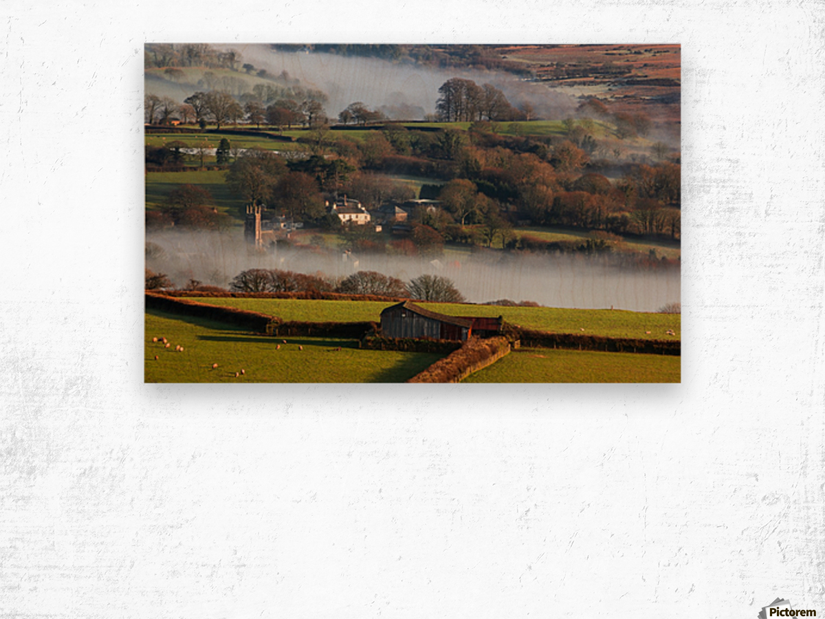 Brentor mist Wood print