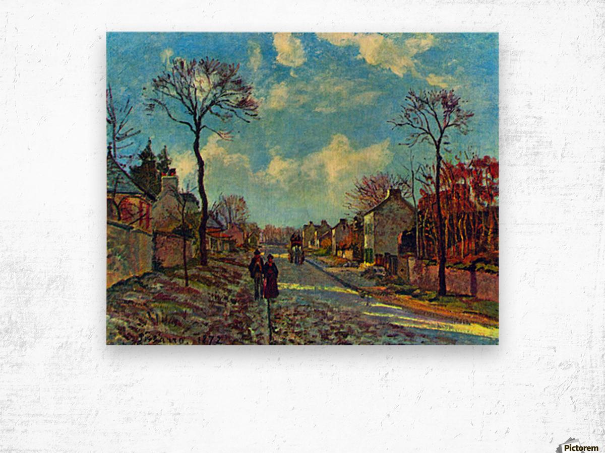 Strait of Louveciennes by Pissarro Wood print