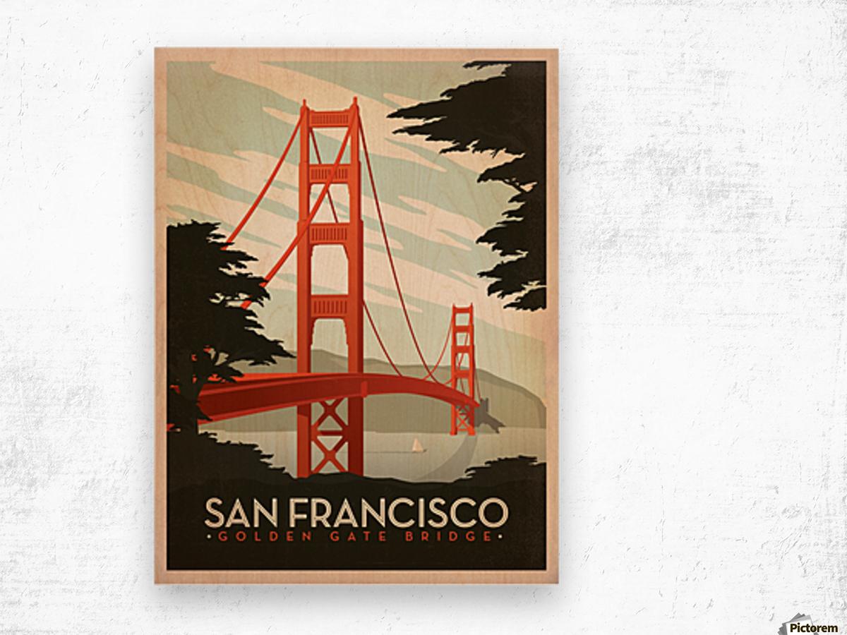 San Francisco Golden Gate Bridge vintage poster - VINTAGE POSTER Canvas