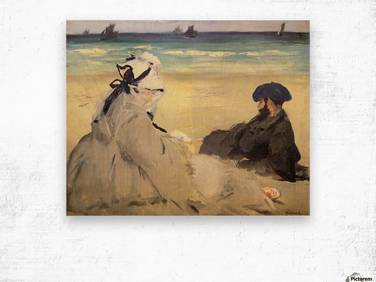 Sur_la_plage_1873 by Manet Wood print