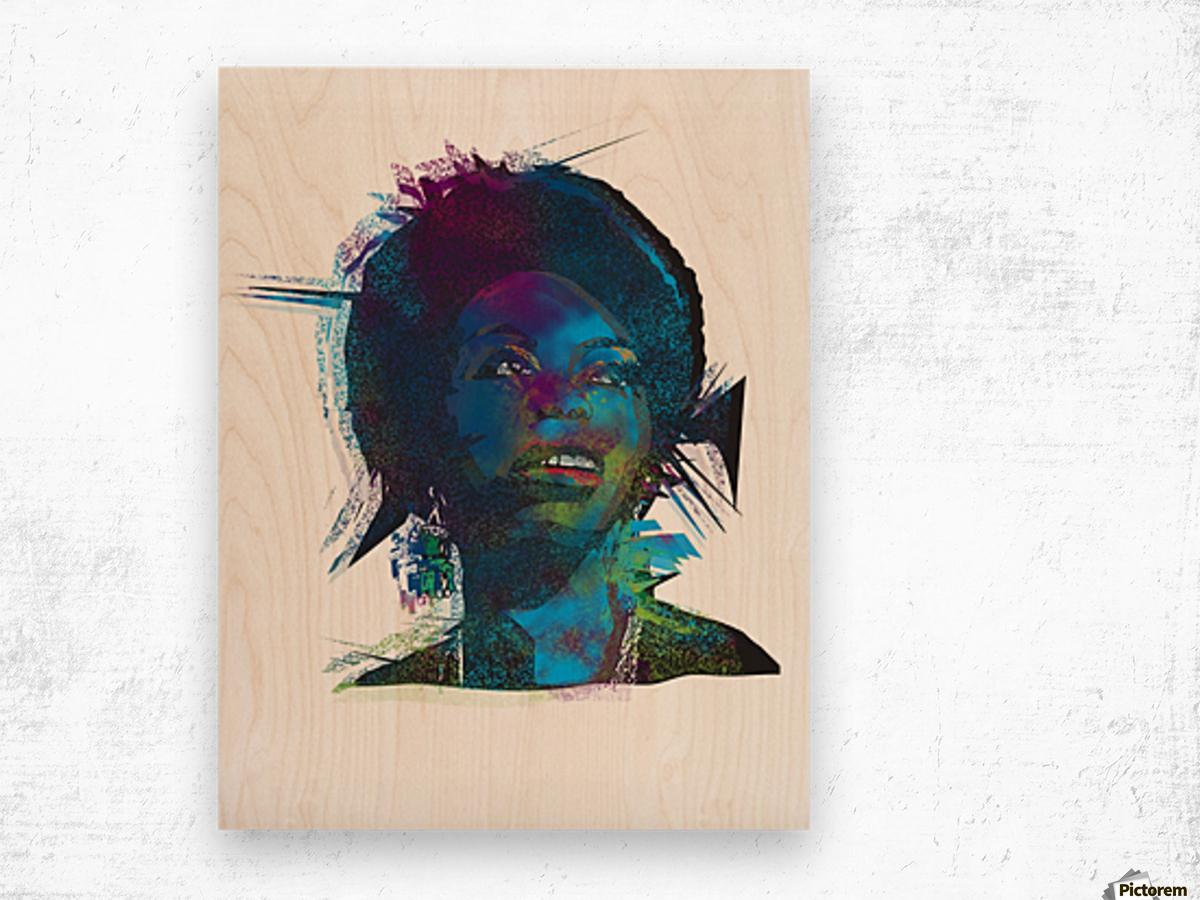 Nina Simon Art  Wood print
