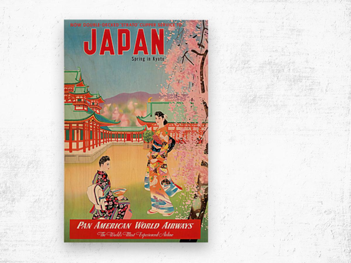 Pan American World Airways Japan Spring in Kyoto Wood print