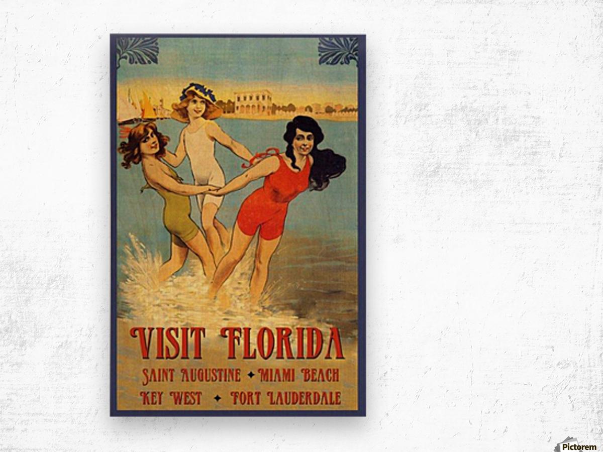 Visit Florida Wood print