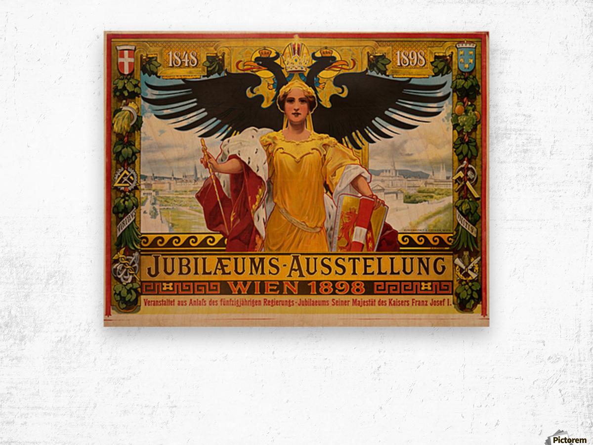 Jubilaeums Austellung Wien 1898 Wood print
