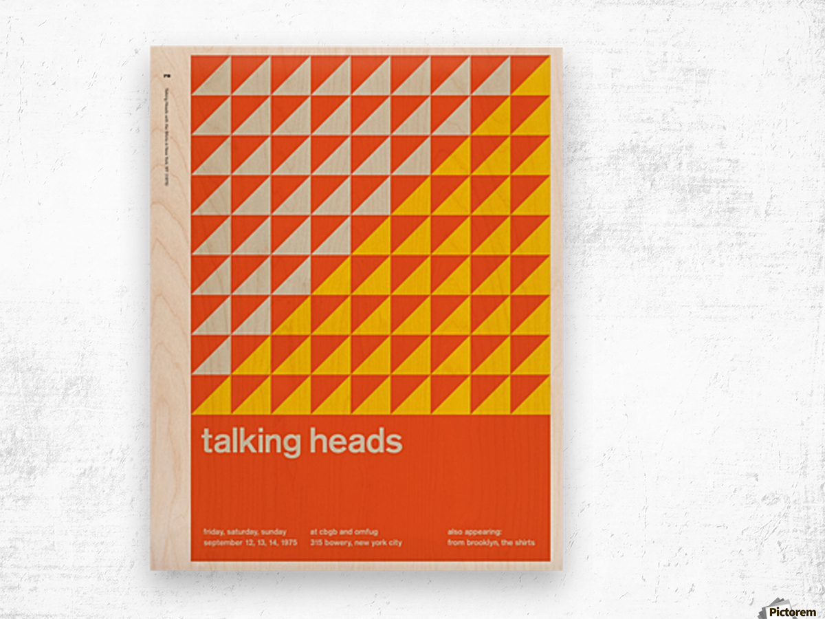 Talking heads Wood print