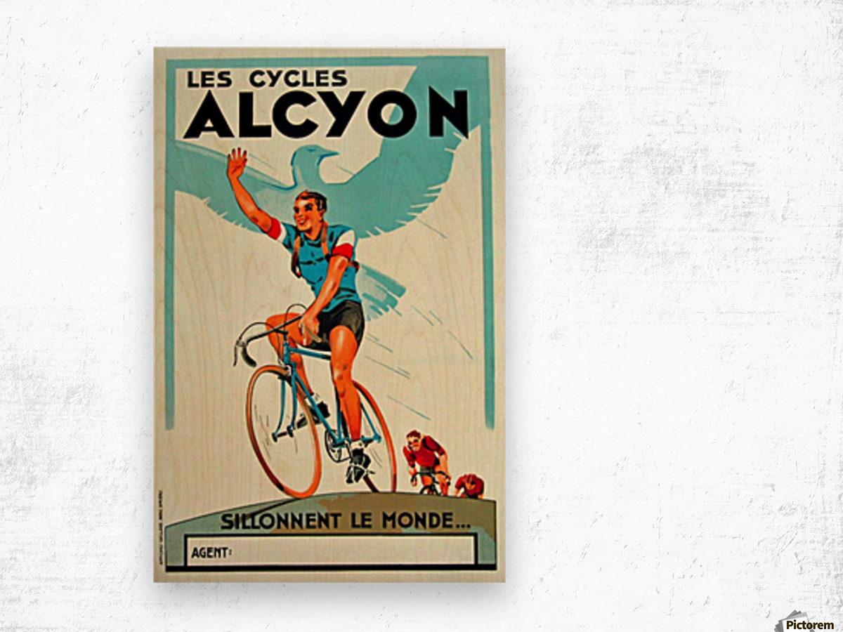 Alcyon Cycles Wood print