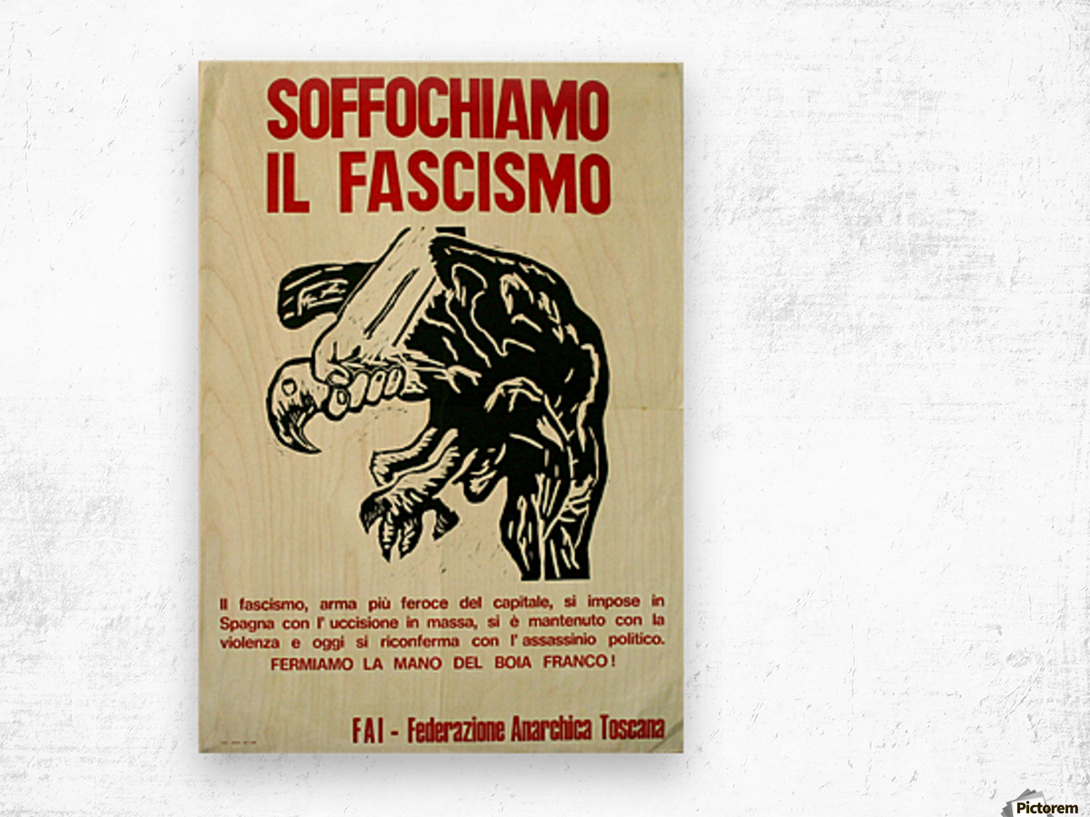 Suffocate fascism Wood print