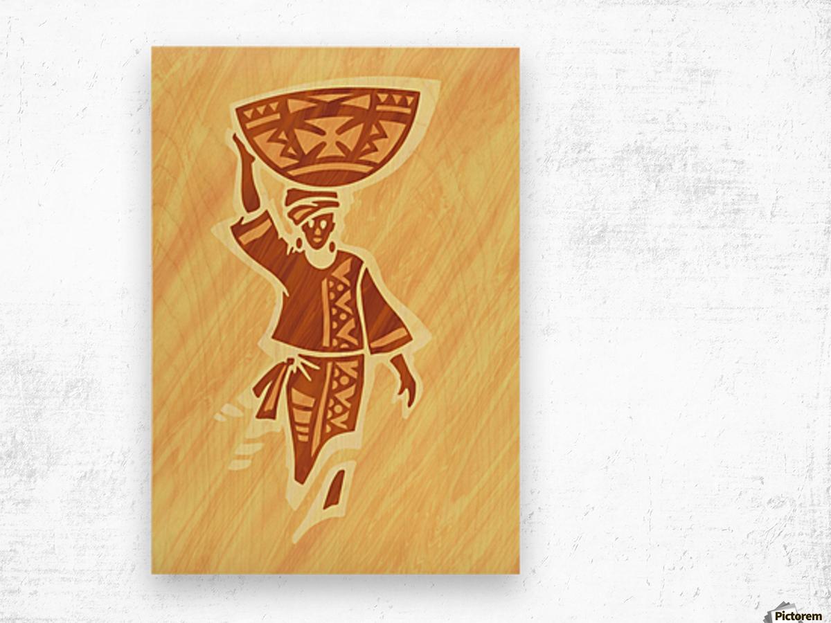 Milk Maiden Wood print