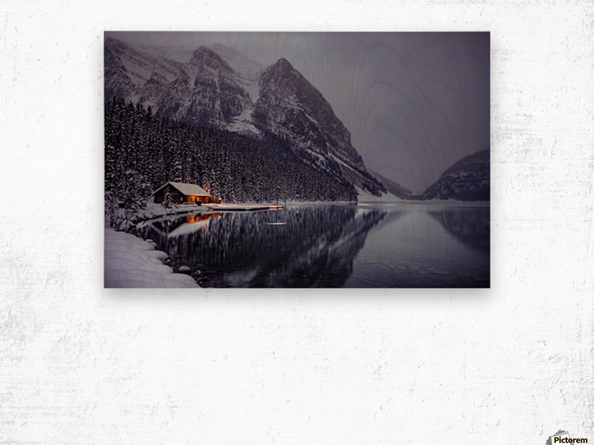 Winter Lake Louise  Wood print