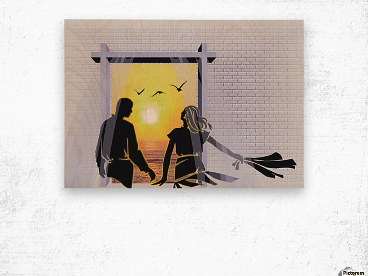 The Couple Wood print