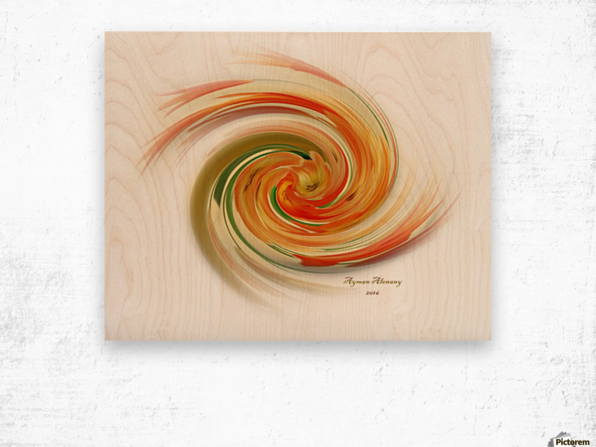 The whirl, W1.6A Wood print