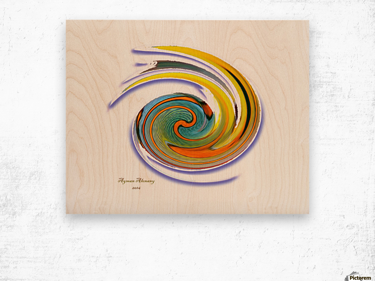 The whirl, W1.11A Wood print