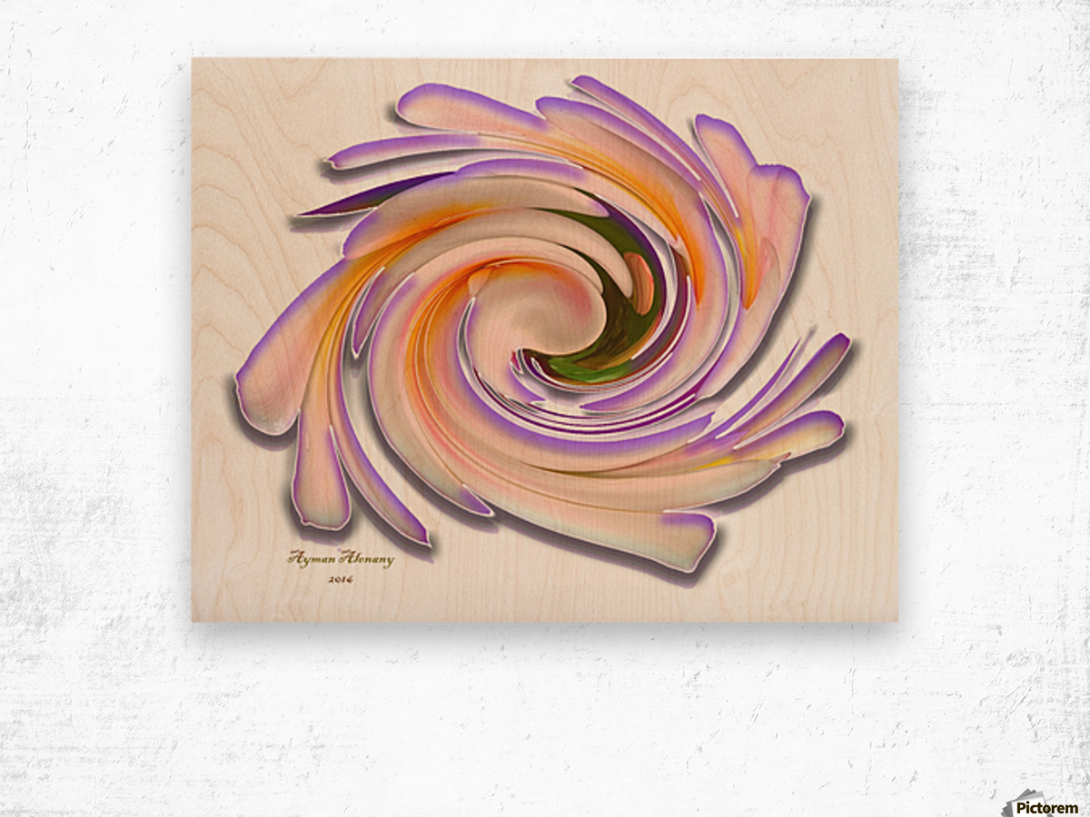 The whirl, W1.8A Wood print