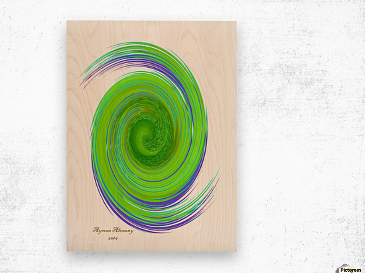 The whirl, W7.1A Wood print