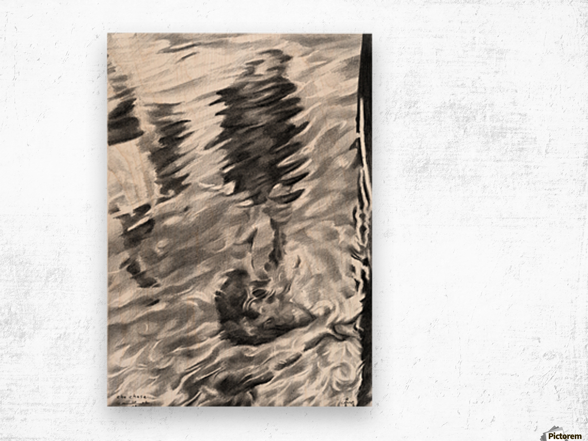 The chase - 20-09-16 Wood print