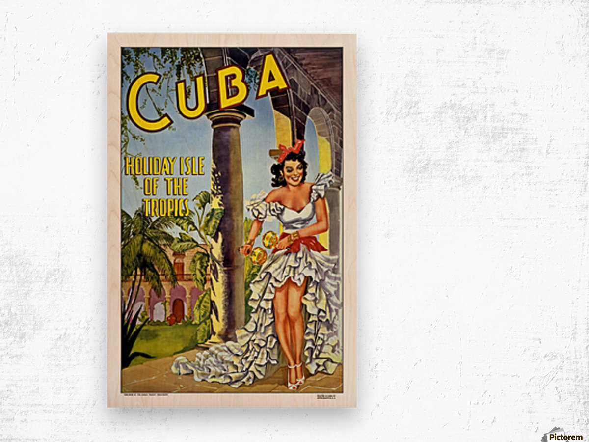 Cuba Holiday Isle of the Tropics poster Wood print