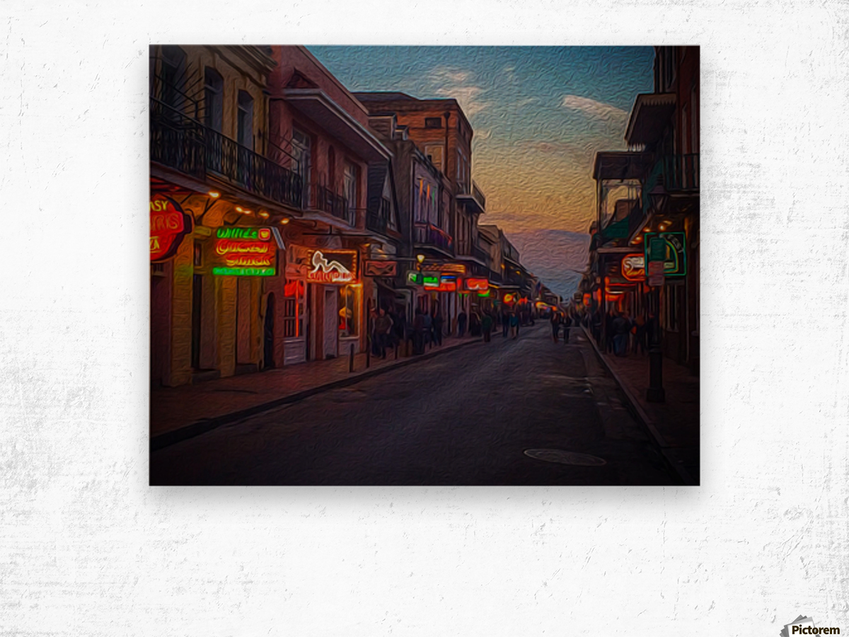 Evening in the Big Easy Wood print