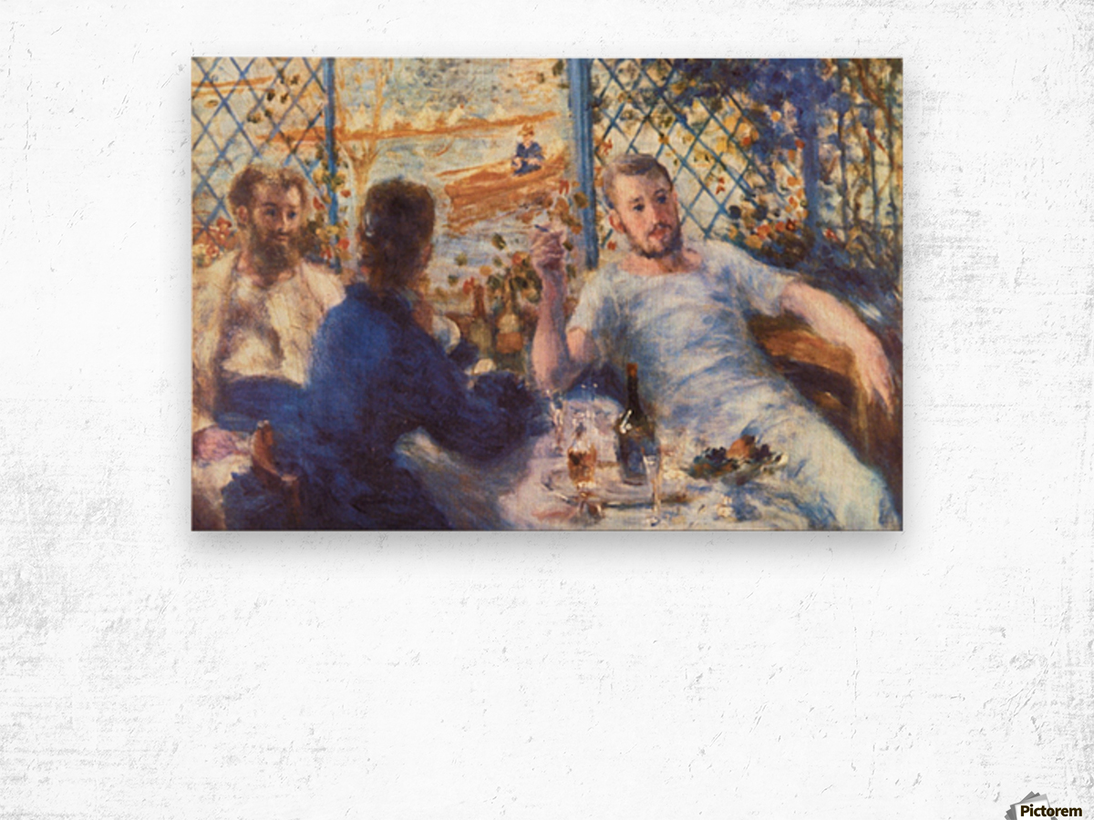 The Rowers Lunch by Renoir Wood print
