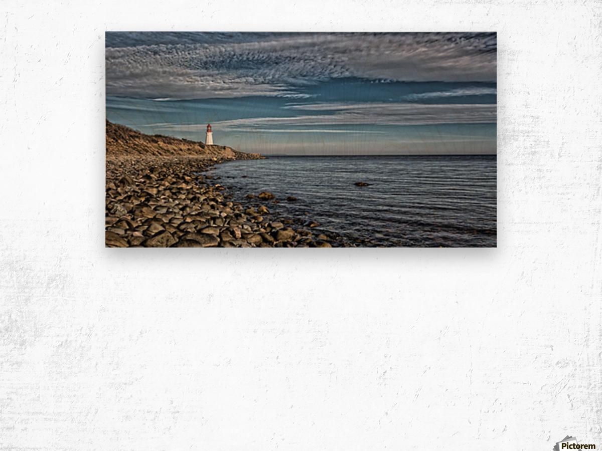 Low Point Lighthouse - Nova Scotia Wood print
