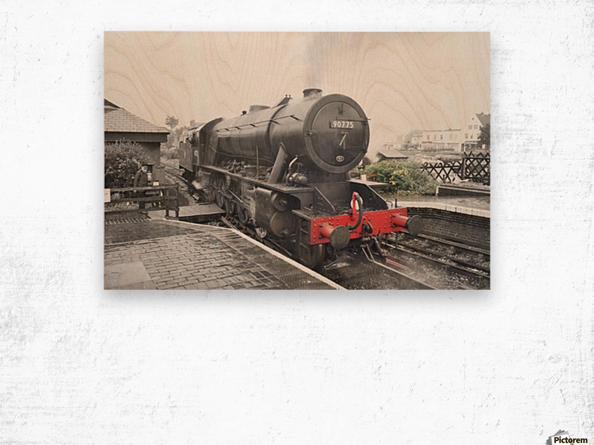 Old engine Wood print