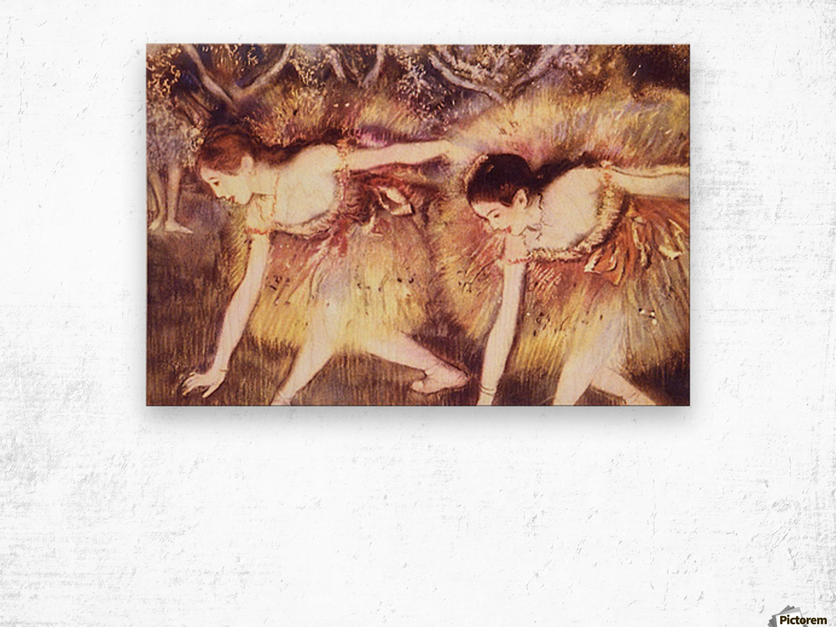 Two Dancers by Degas Wood print