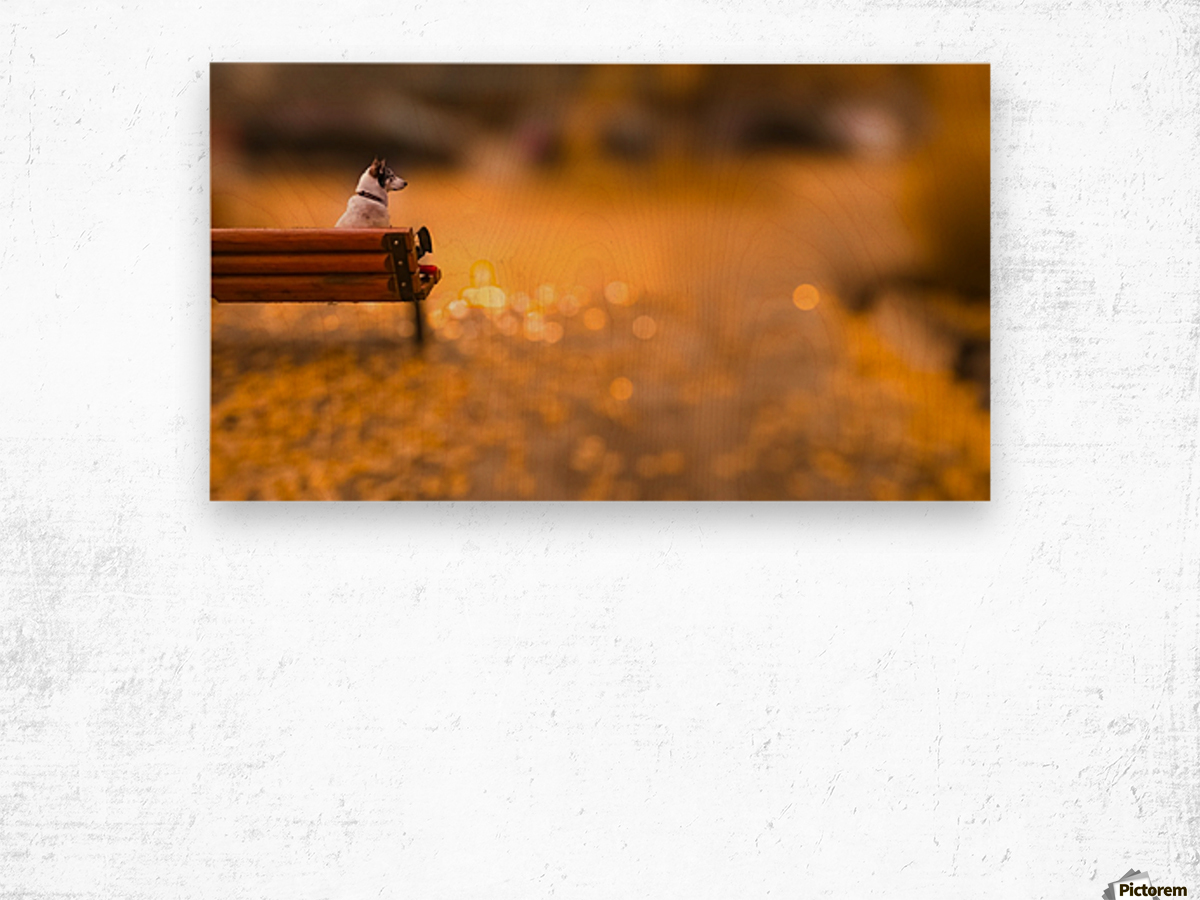 Waiting Wood print