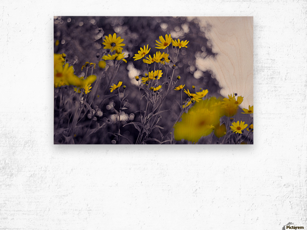 Still yellow Wood print