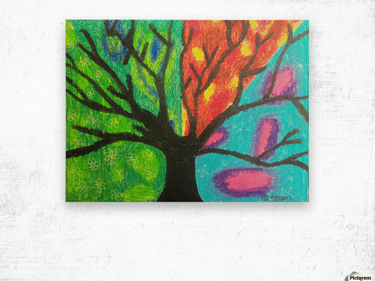 Four seasons  Impression sur bois