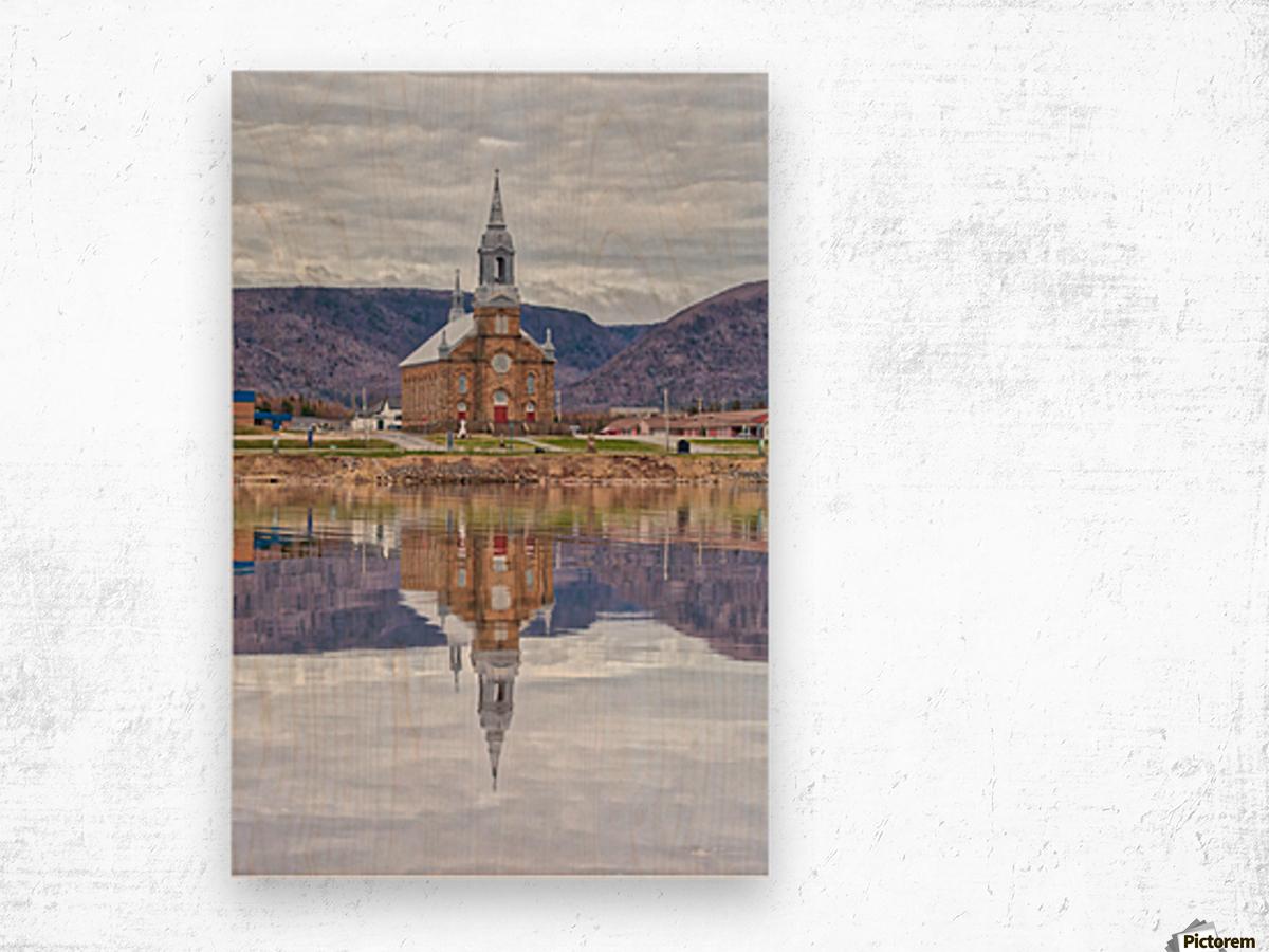 St. Pierres Church - Cheticamp Ns Wood print