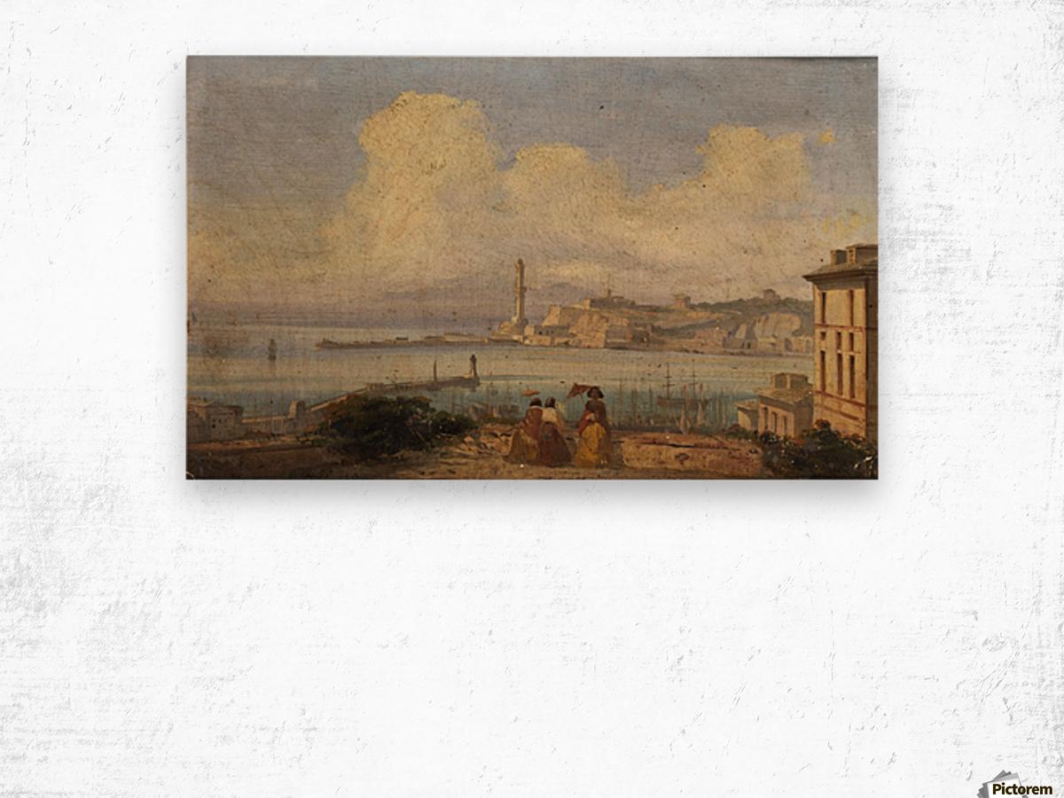 Bucht von Neapel 1855 Wood print
