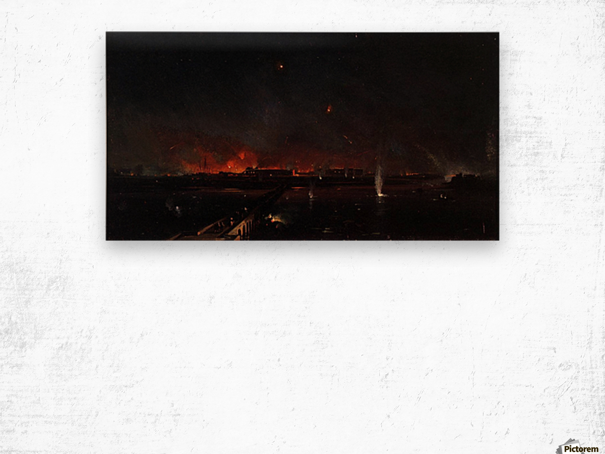 Bombardment of Marghera on the Night of May 24, 1849 Wood print