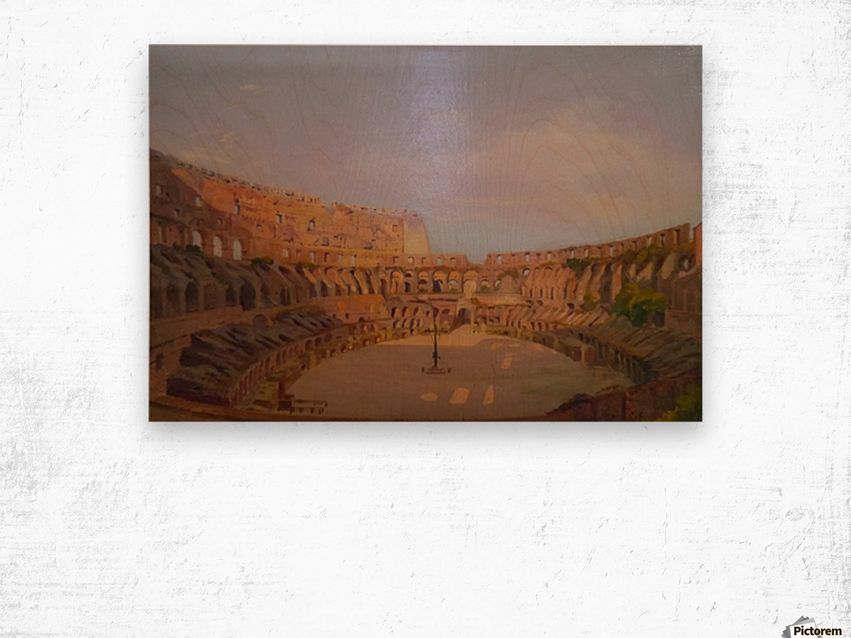 Interior of the Colosseum, 1857 Wood print