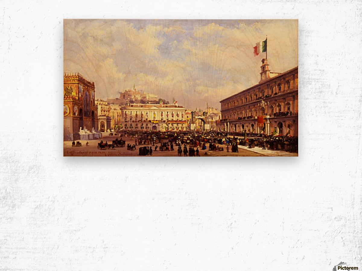 Napoli, 1860 Wood print