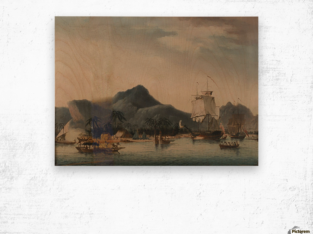 The Resolution and Discovery off Hawaii Wood print