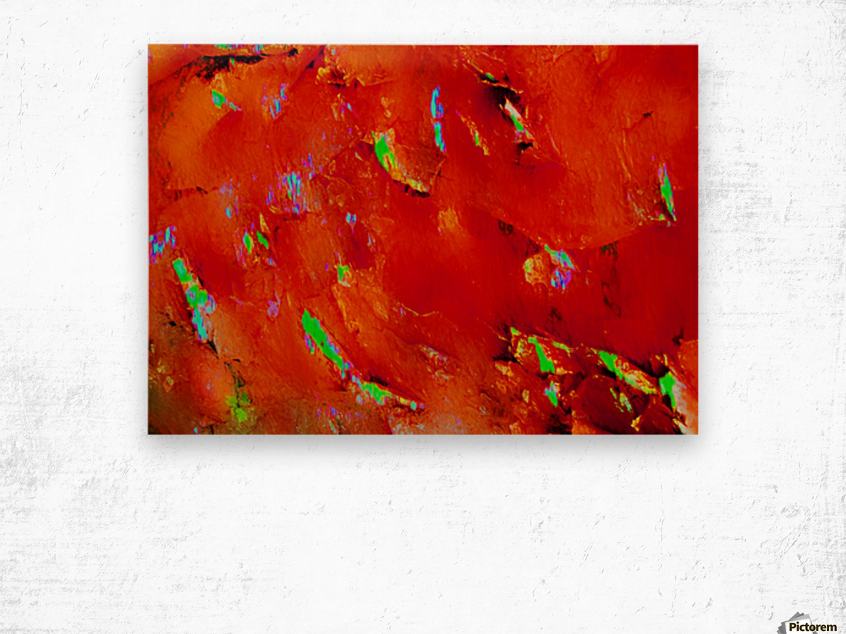 Background Abstract Leaves Seasons Orange Oranges Wood print