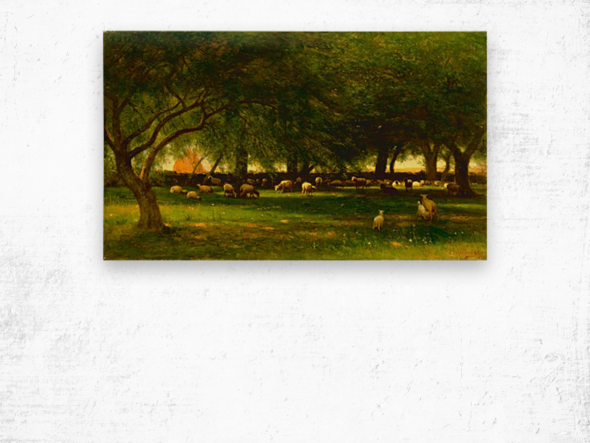 Noon in the Orchard Wood print