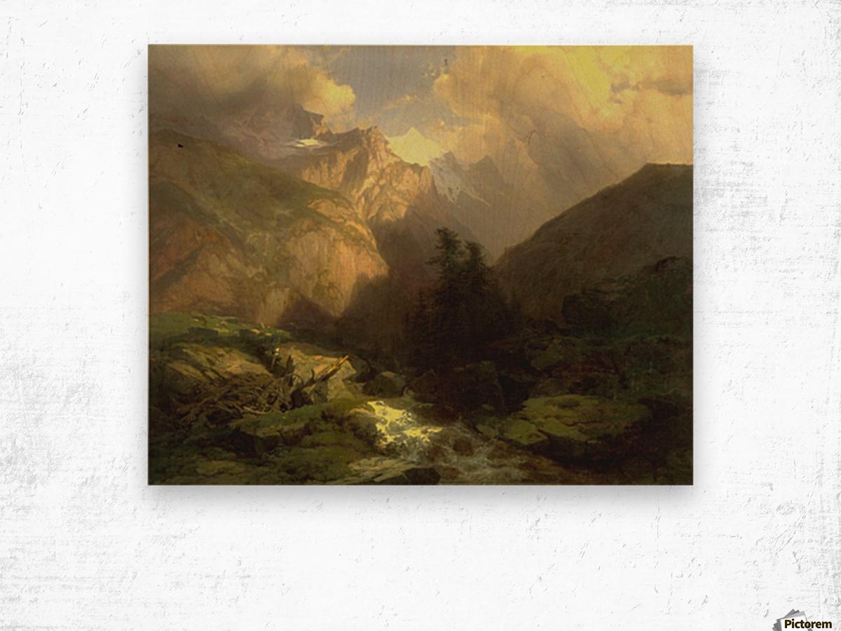 The Jungfrau, Switzerland Wood print