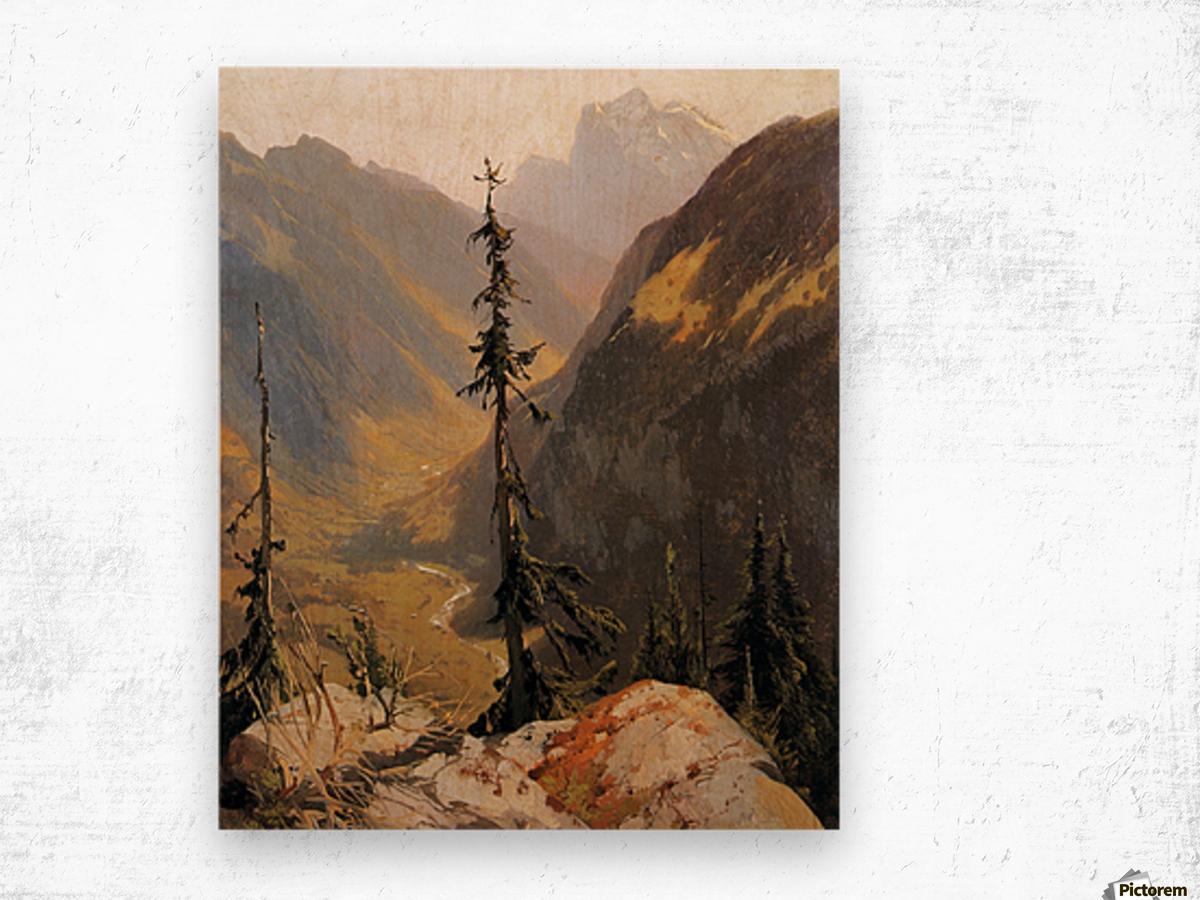 Lutschental with the Wetterhorn Sun Wood print