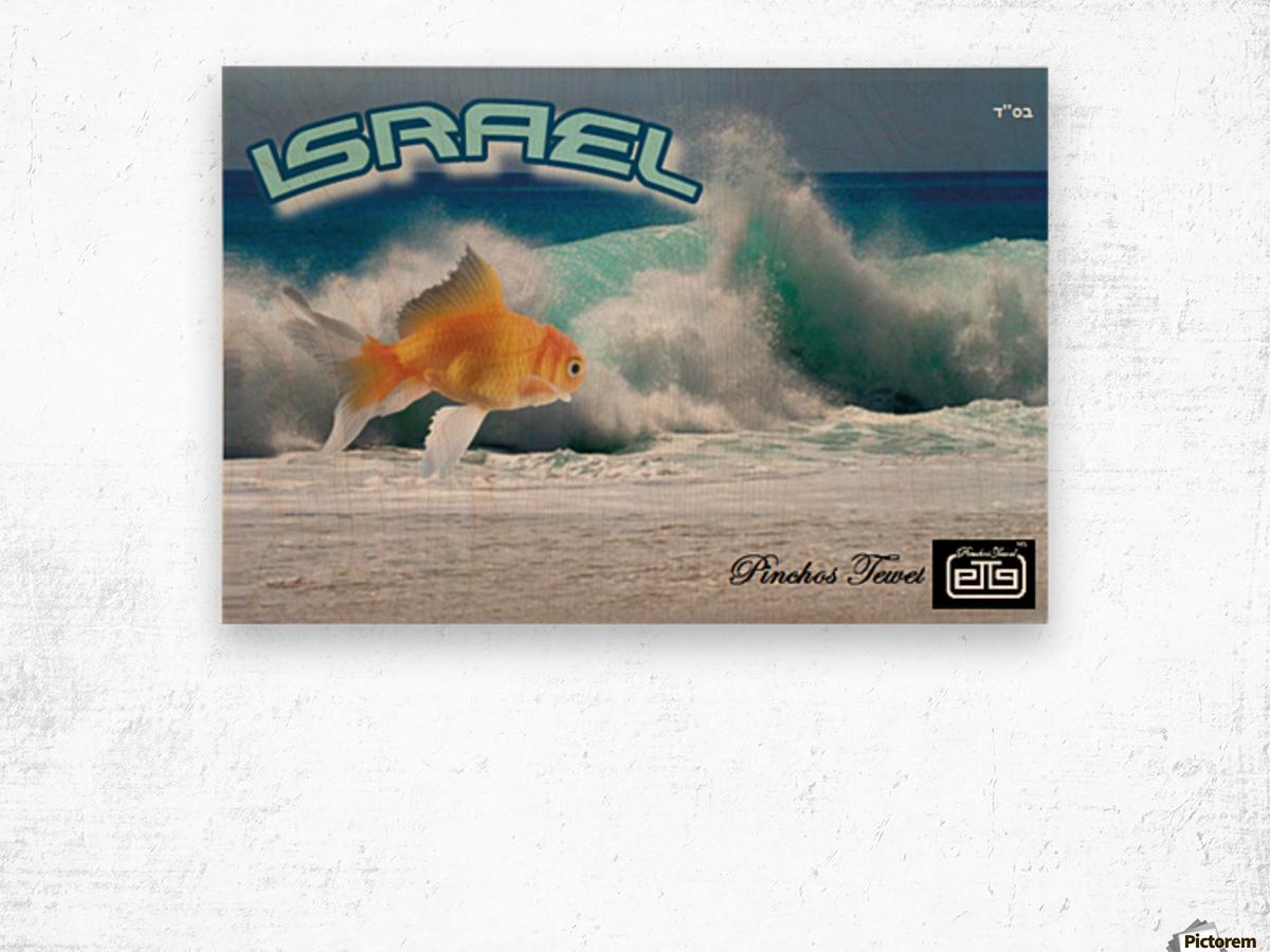 art israel ocean  2 Wood print