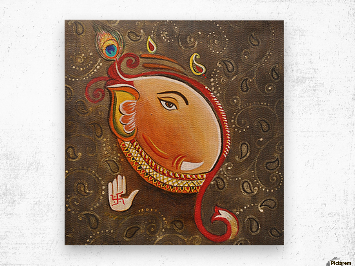 Ganesha the Great God Wood print