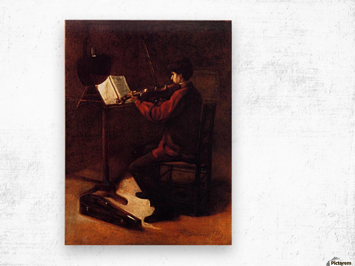 Violinist Impression sur bois