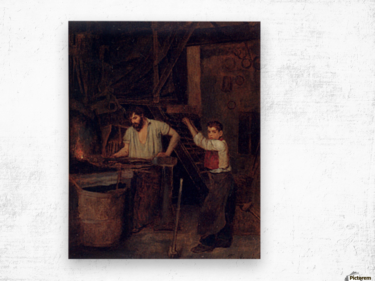 The blacksmiths Wood print
