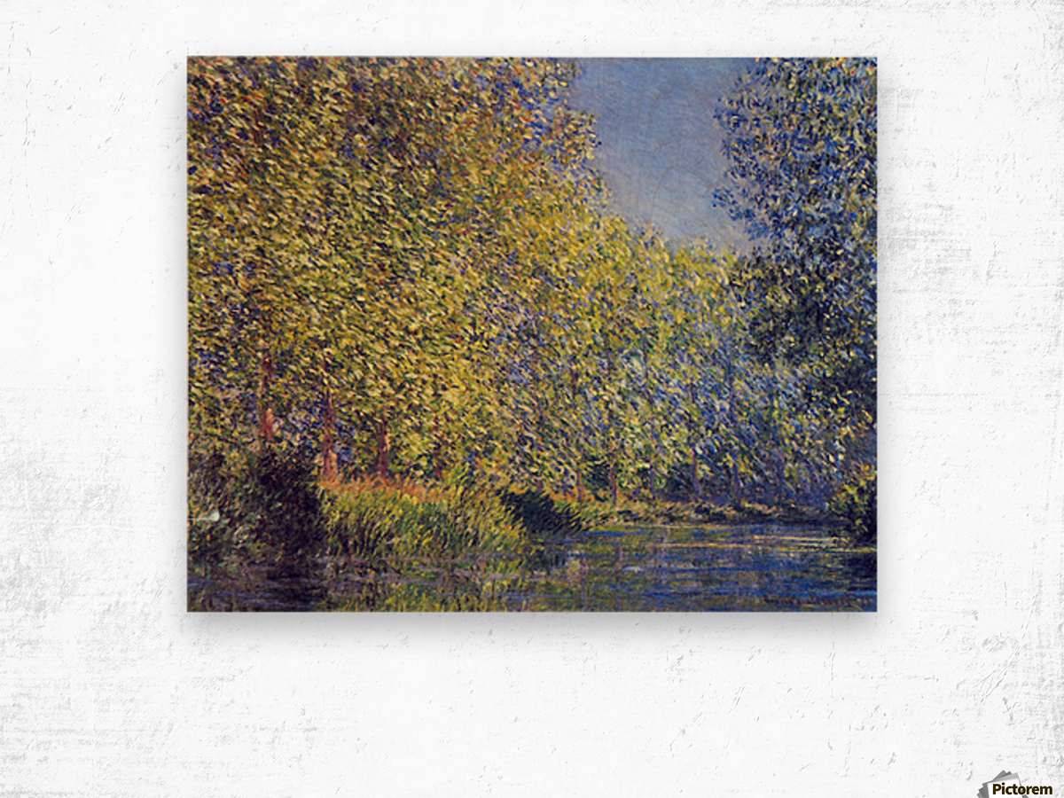 A Bend in the Epte Giverny by Monet Wood print