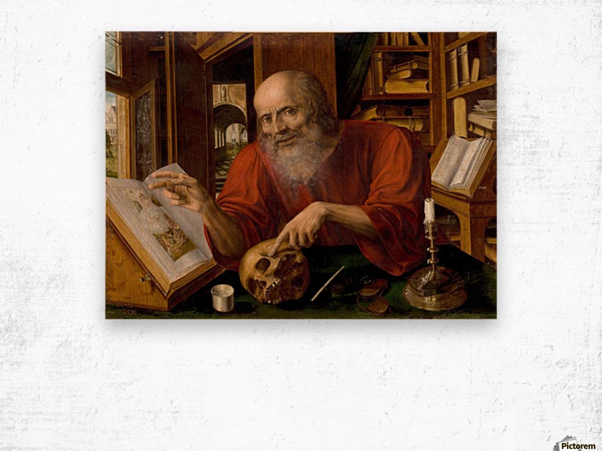 Saint Jerome Wood print