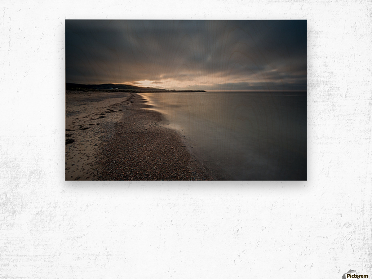 Belle Cote Beach at Sunset Wood print