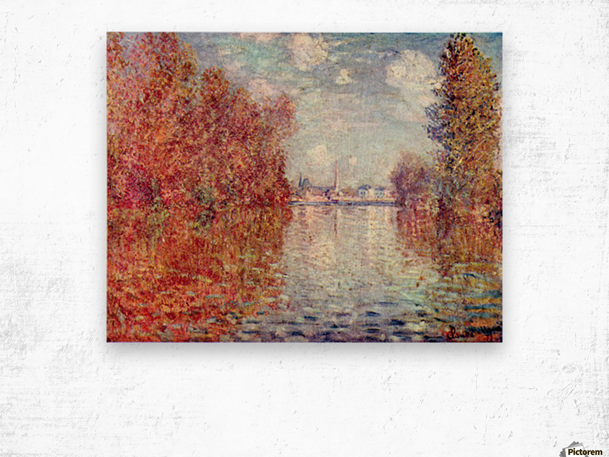 Autumn in Argenteuil by Monet Wood print