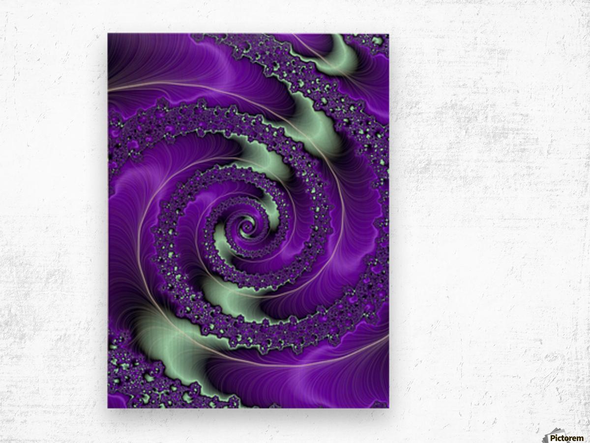 Purple Vortex Wood print