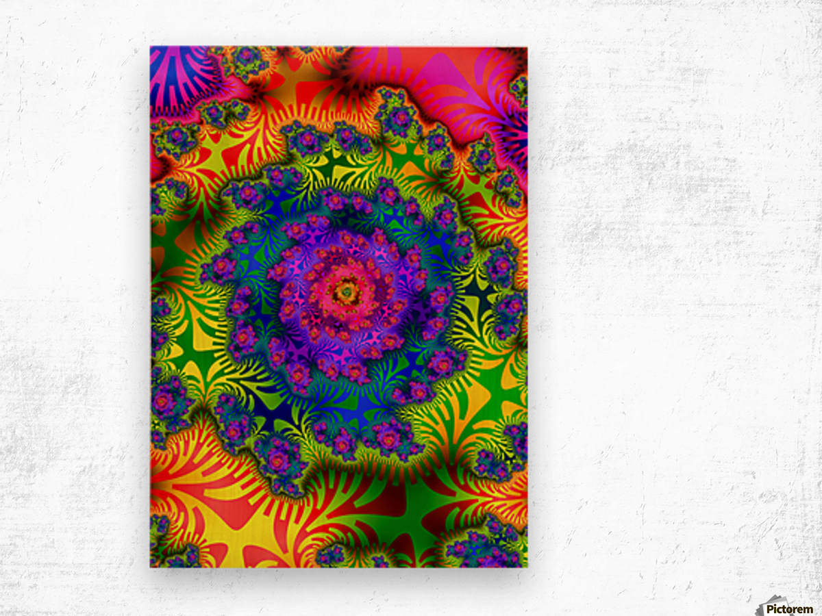 Vivid Abstract Image Wood print