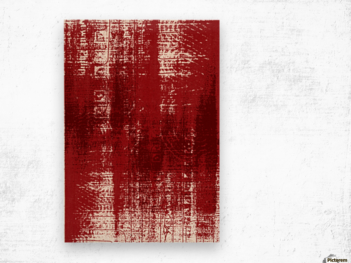 Red Texture Wood print